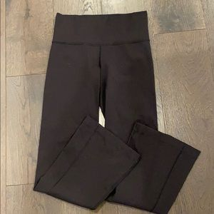 Black boot cut Lululemon pants (petite)